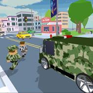 Blocky Army City Rush Racer MOD